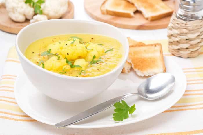 Dr. Weils Curried Cauliflower Soup