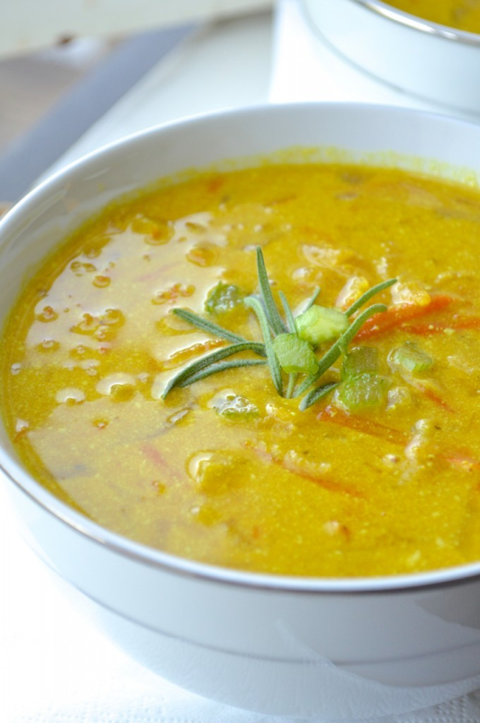 Indian Coconut Curry Soup