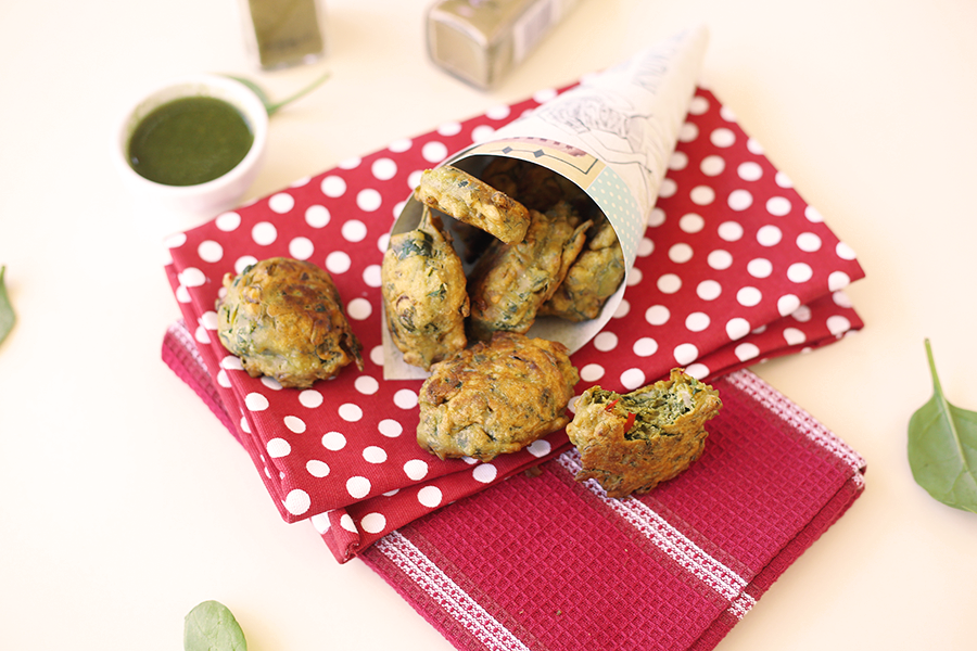 Vegan Indian Spinach Fritters