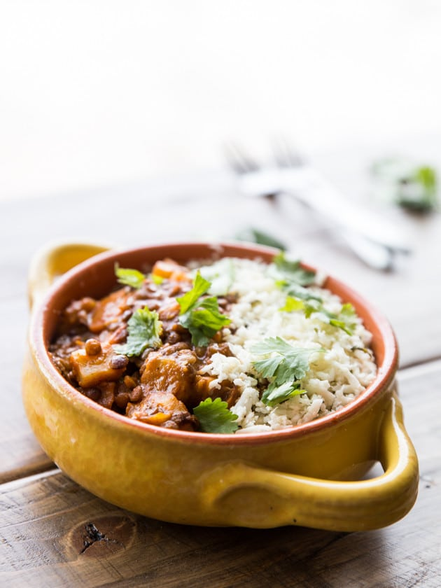 Winter Vegetable and Lentil Red Curry