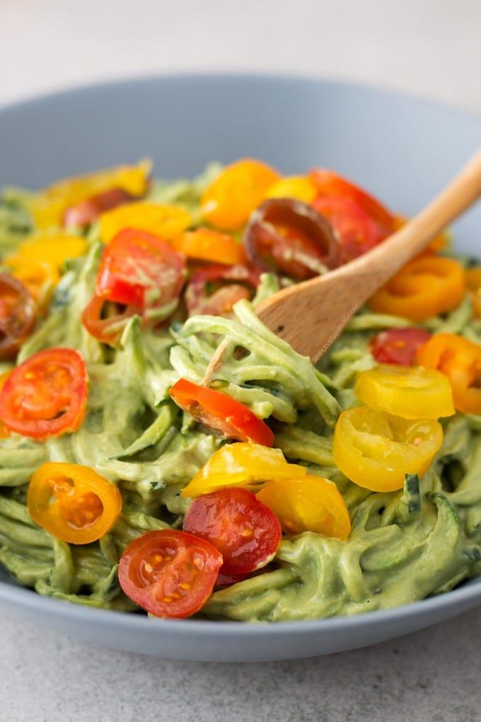 vegan avocado noodles