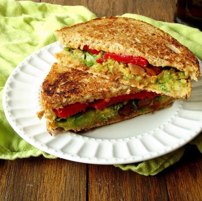 vegan avocado melt