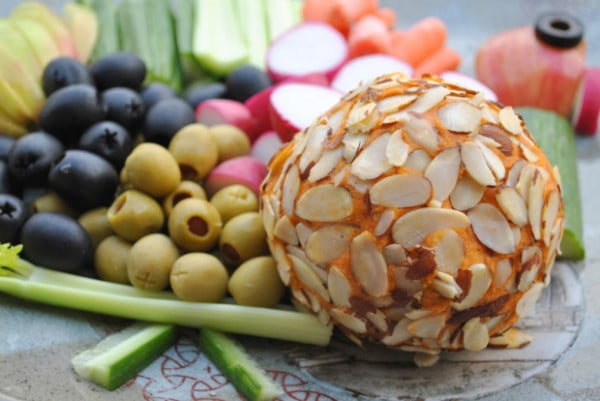 vegan cheddar cheese ball