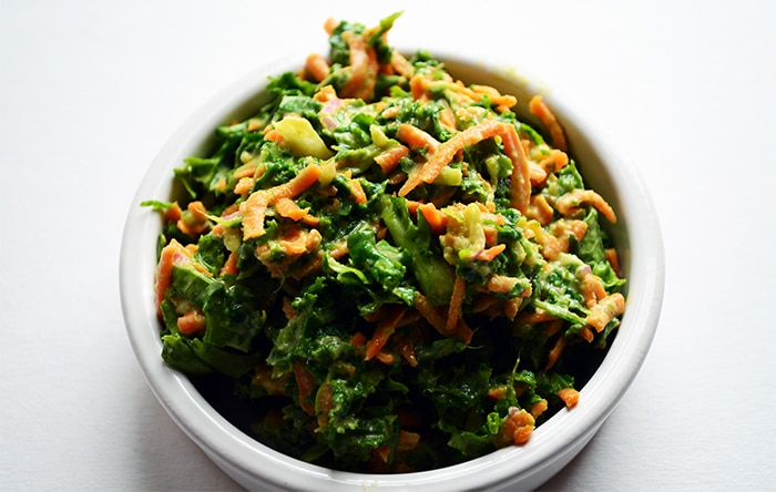 vegan kaleslaw