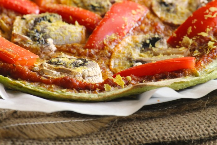 vegan zucchini pizza crust