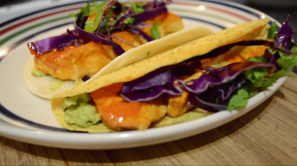 Vegan Buffalo Tofu Tacos