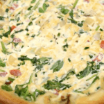 Vegan Spinach Tomato Quiche