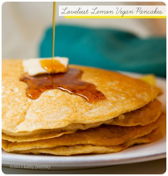 Loveliest Lemon Vegan Pancakes