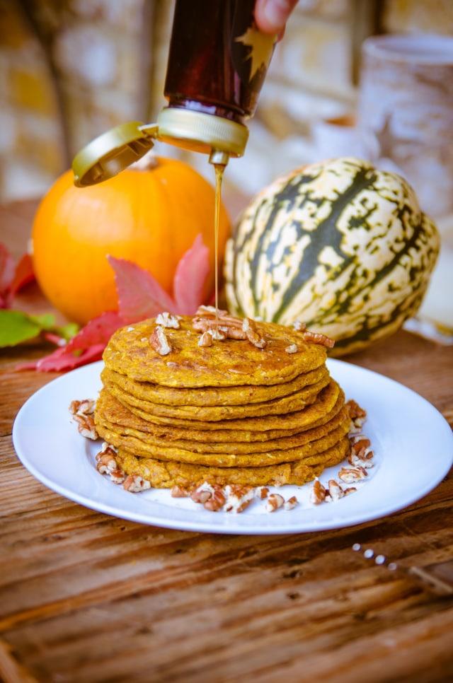 Pumpkin Spiced Vegan Pancakes