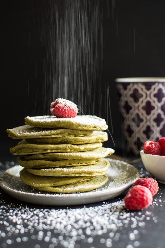 Vegan Green Tea Pancakes