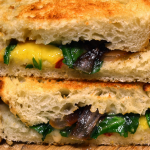 Vegan Grilled Cheese Peaches