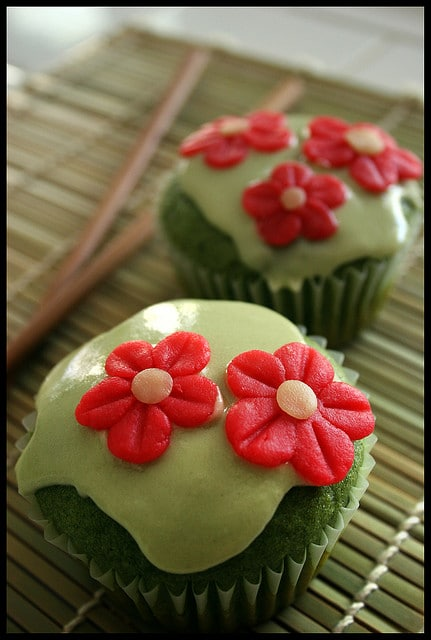 green tea vegan cupcakes