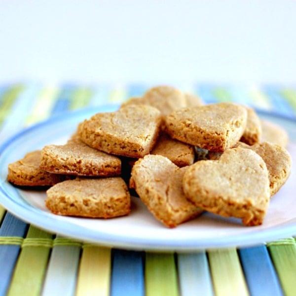 apple and peanut butter vegan dog treats