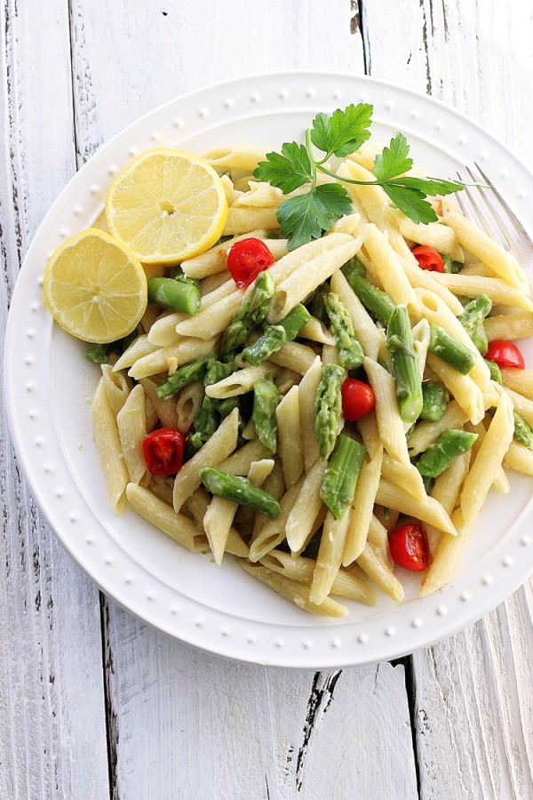 asparagus vegan pasta