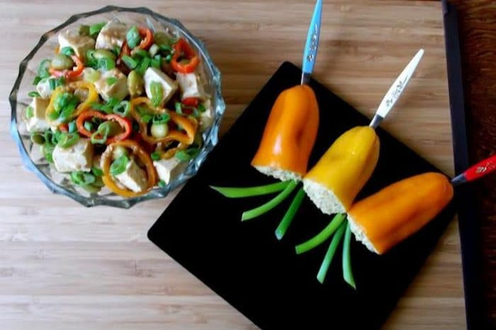 baked tofu peppers recipe