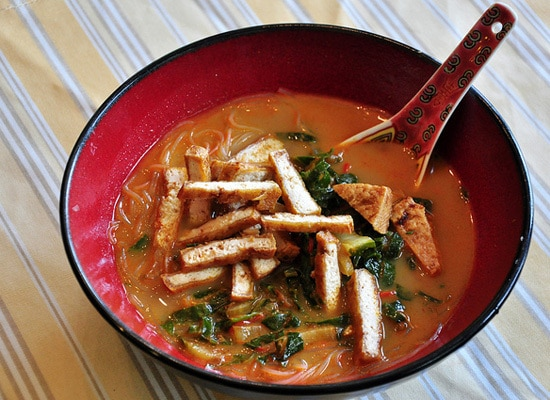coconut curry tofu soup