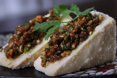 garlic stuffed tofu recipes