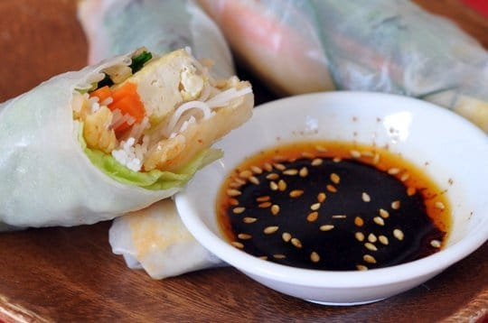 kimche tofu summer rolls