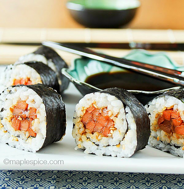 miso carrot sushi