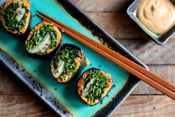 vegan nori sushi rolls