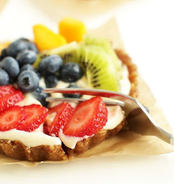 tofu fruit tarts
