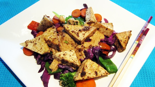 ... tofu with asian caramel sauce crispy tofu triangles with asian dipping