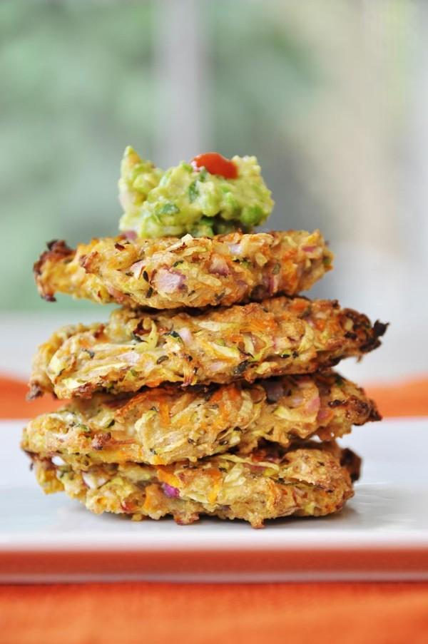 vegan zucchini-fritters
