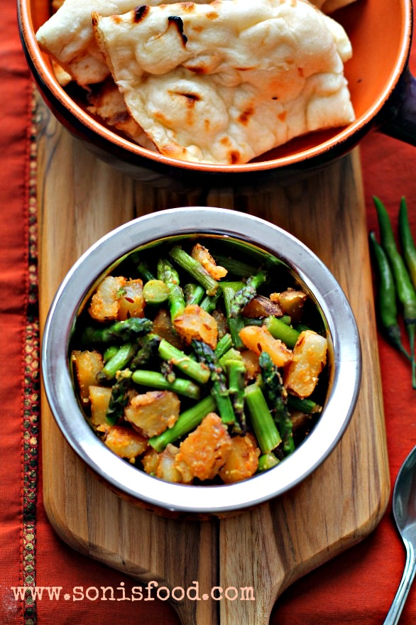 Aloo Asparagus and Potato