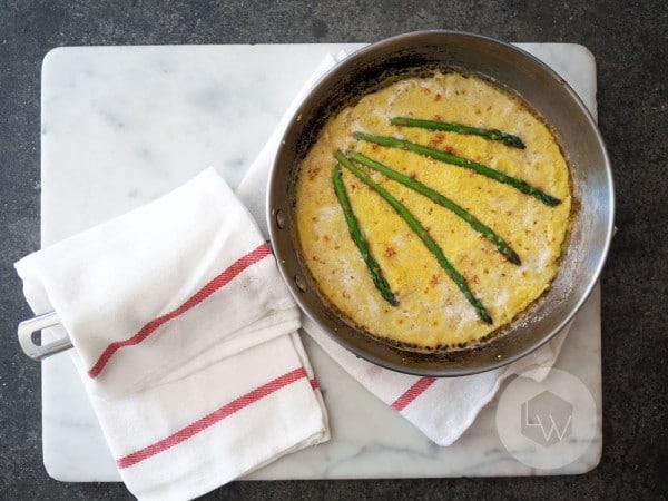 Asparagus Cornmeal Pancake