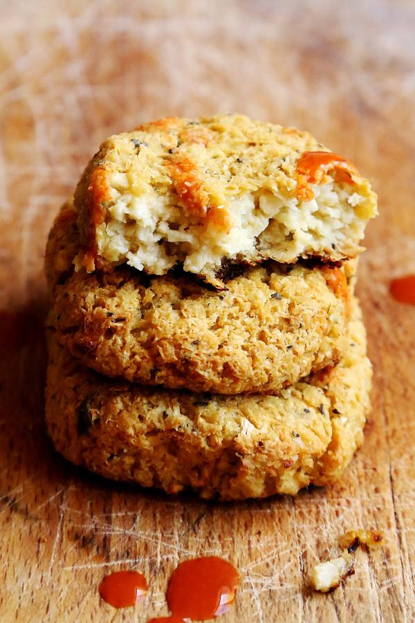 Cheezy Vegan Cauliflower Nuggets