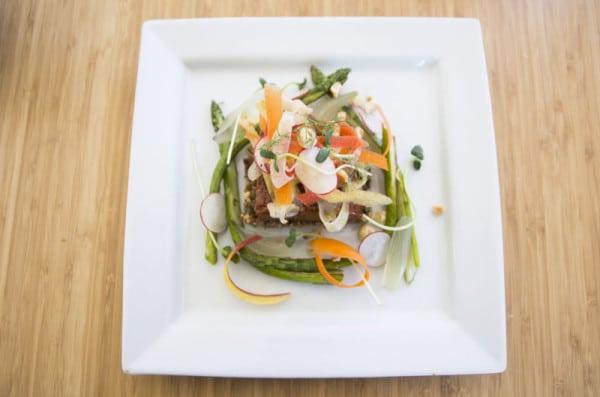 Glazed Tempeh Roasted Asparagus