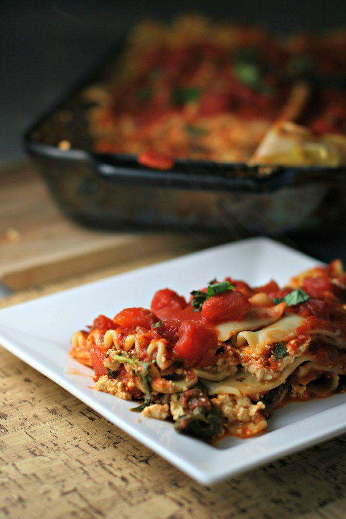 Simple Tofu Ricotta Lasagna