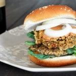Spicy Pinto Bean Burger with Vegan Chipotle Mayo
