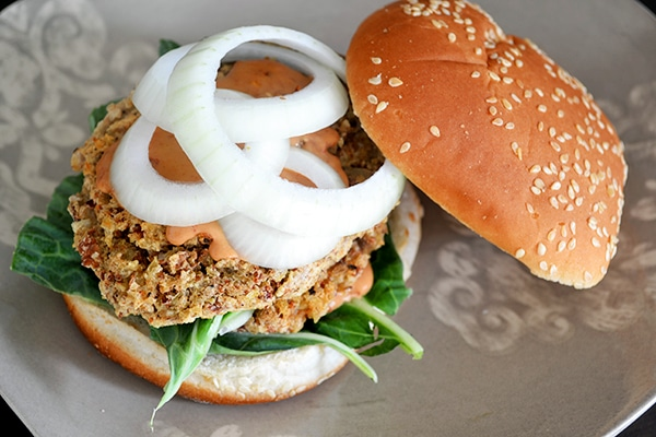 Spicy Pinto Bean Burger with Vegan Chipotle Mayo 2