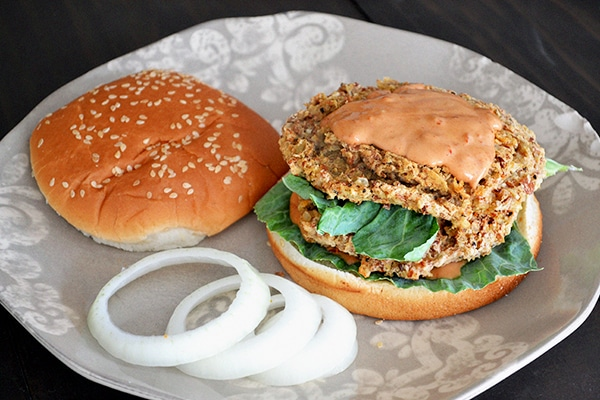 Spicy Pinto Bean Burger with Vegan Chipotle Mayo 3