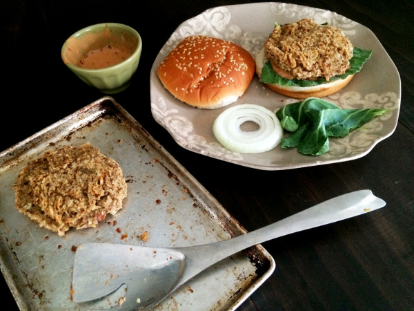 Spicy Pinto Bean Burger with Vegan Chipotle Mayo 6