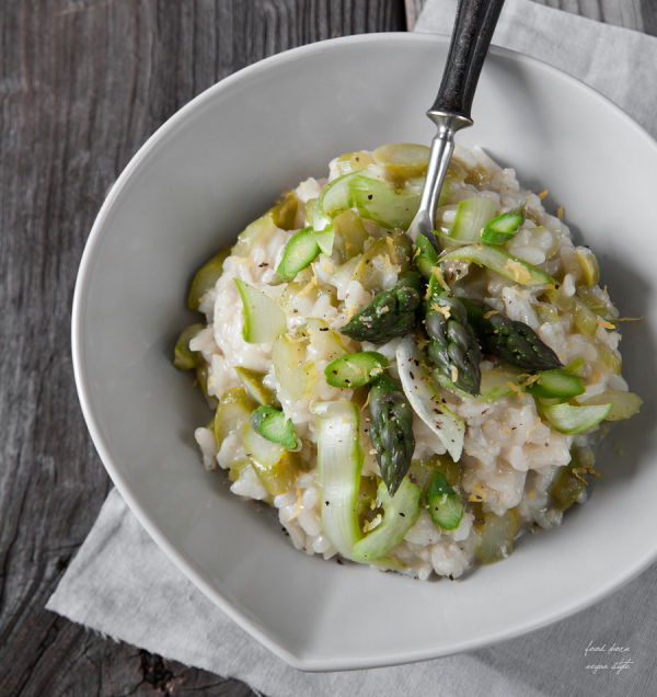 Spring Risoto with Asparagus, Lemon and Mint