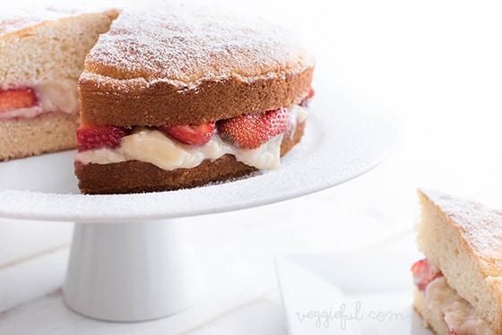 Vegan Birthday Sponge Cake
