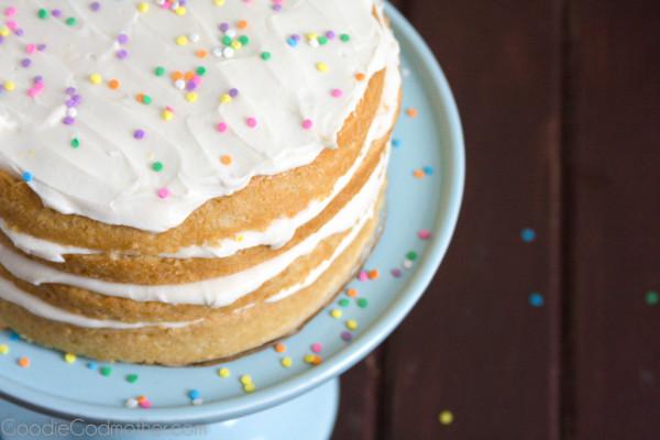 Vegan Lemon Cream Birthday Cake
