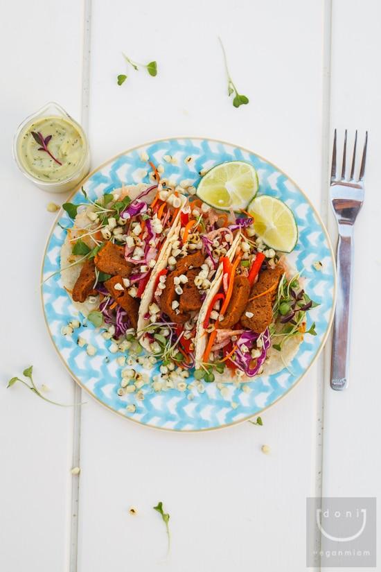 vegan chipotle seitan taco