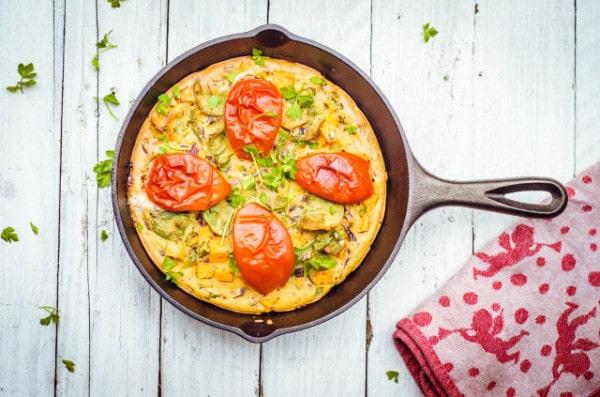 sweet potato omelette