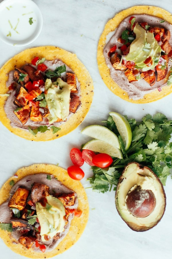 vegan sweet potato tacos