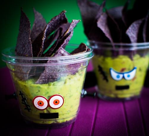 Frankenstein Guacamole Cups