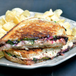 Vegan Grilled Cheese Strawberry Compote