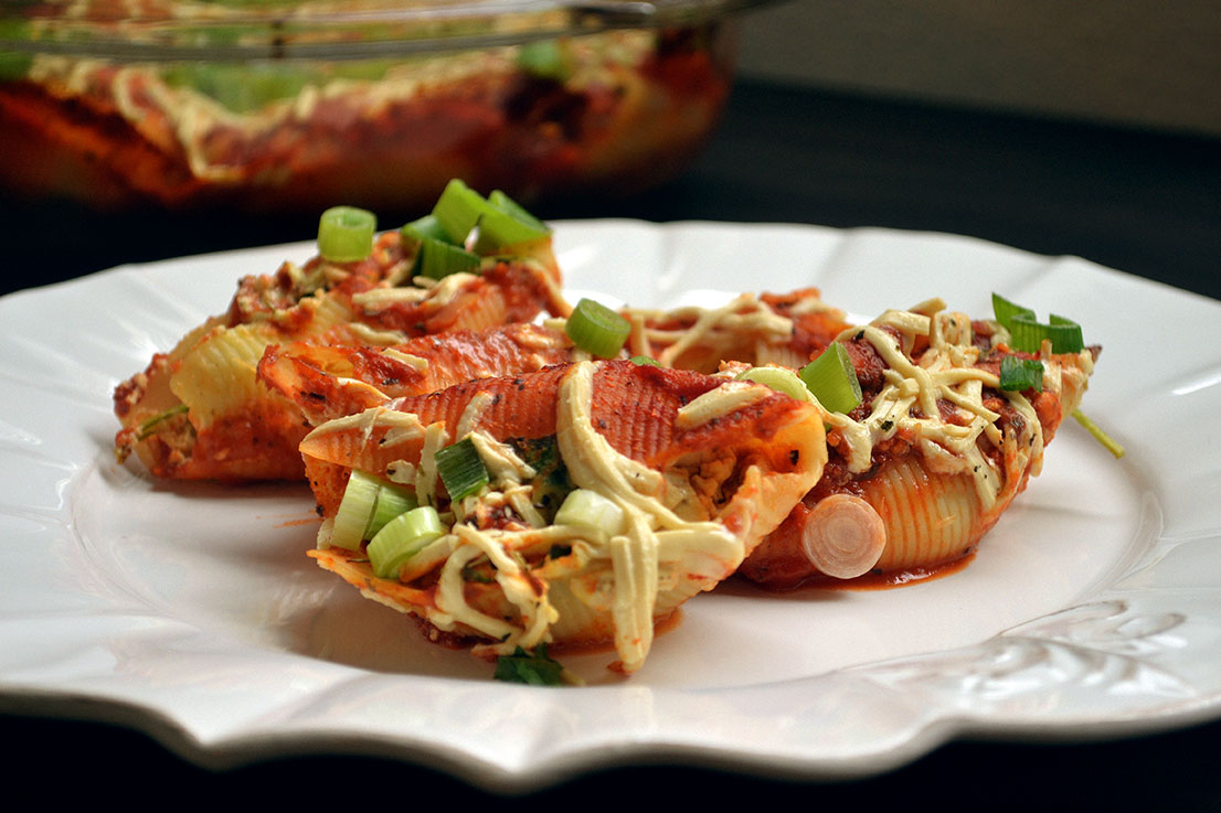 Tofu-Ricotta Stuffed Shells