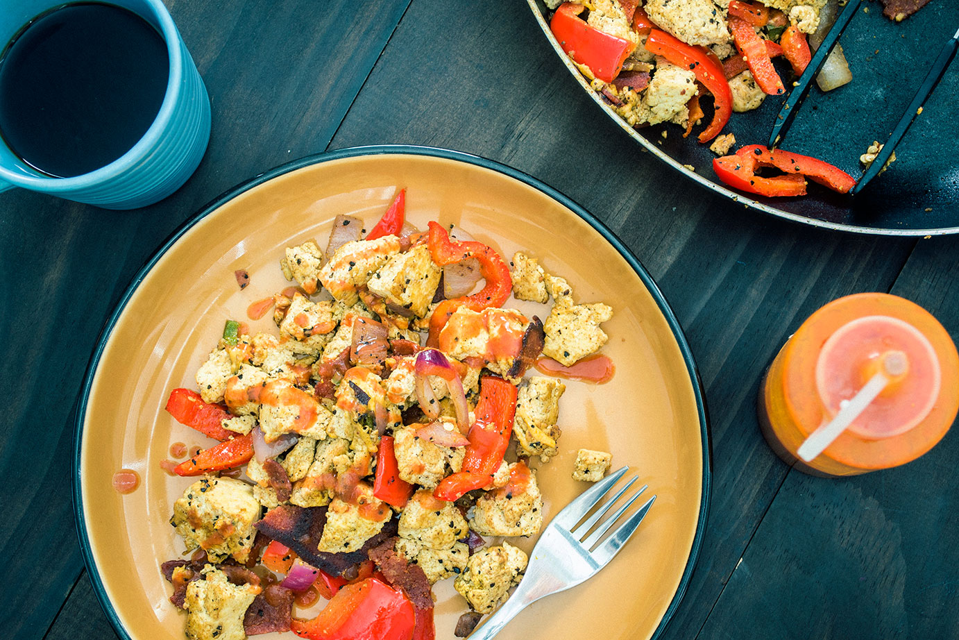 vegan-bacon-and-eggs-southwest-tofu-scramble