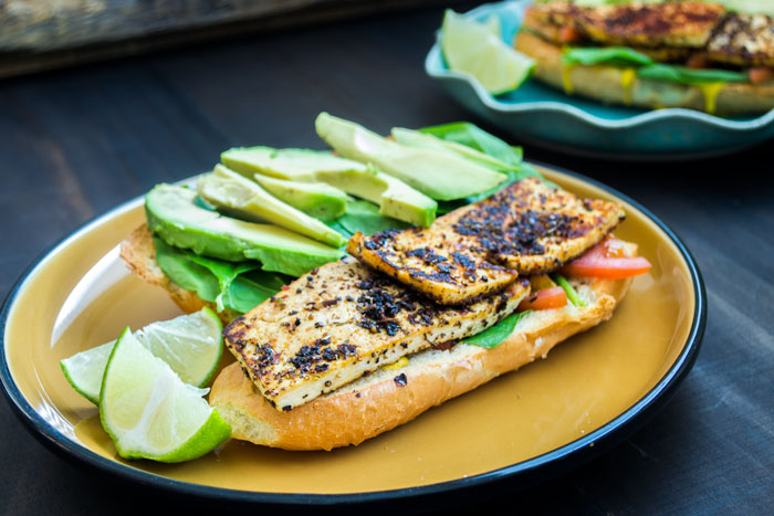 Blackened Tofu Sandwich