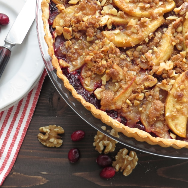 Cranberry Apple Walnut Tart