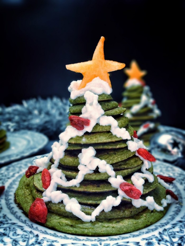 Christmas Tree Pancake Stack