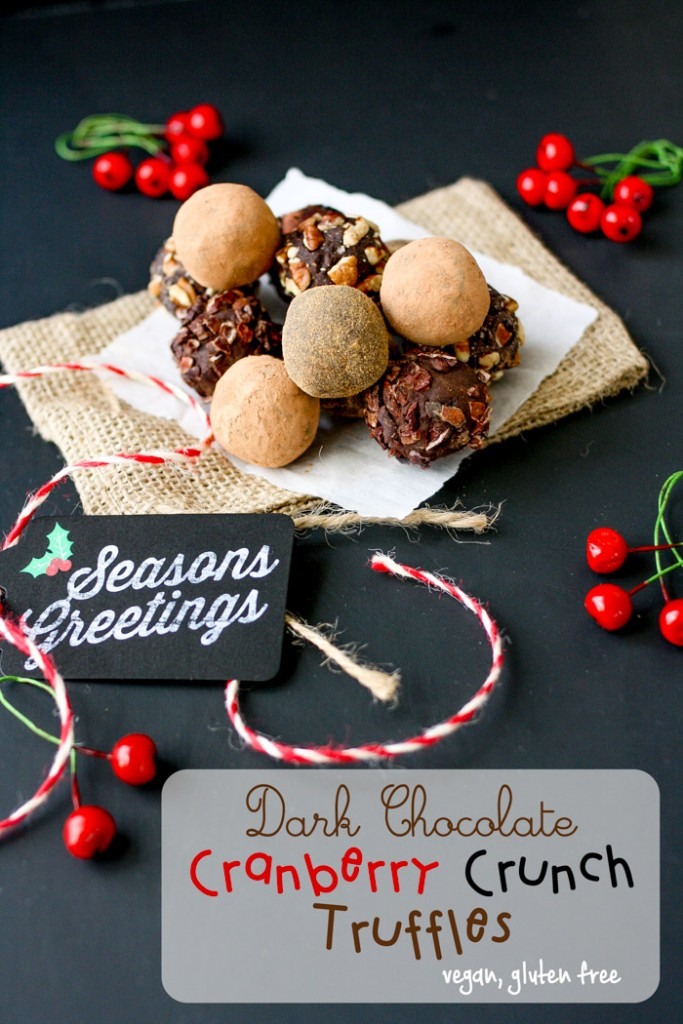 Cranberry Crunch Dark Chocolate Truffles